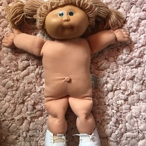 Rare 1985 blue stamped cabbage patch kid girl